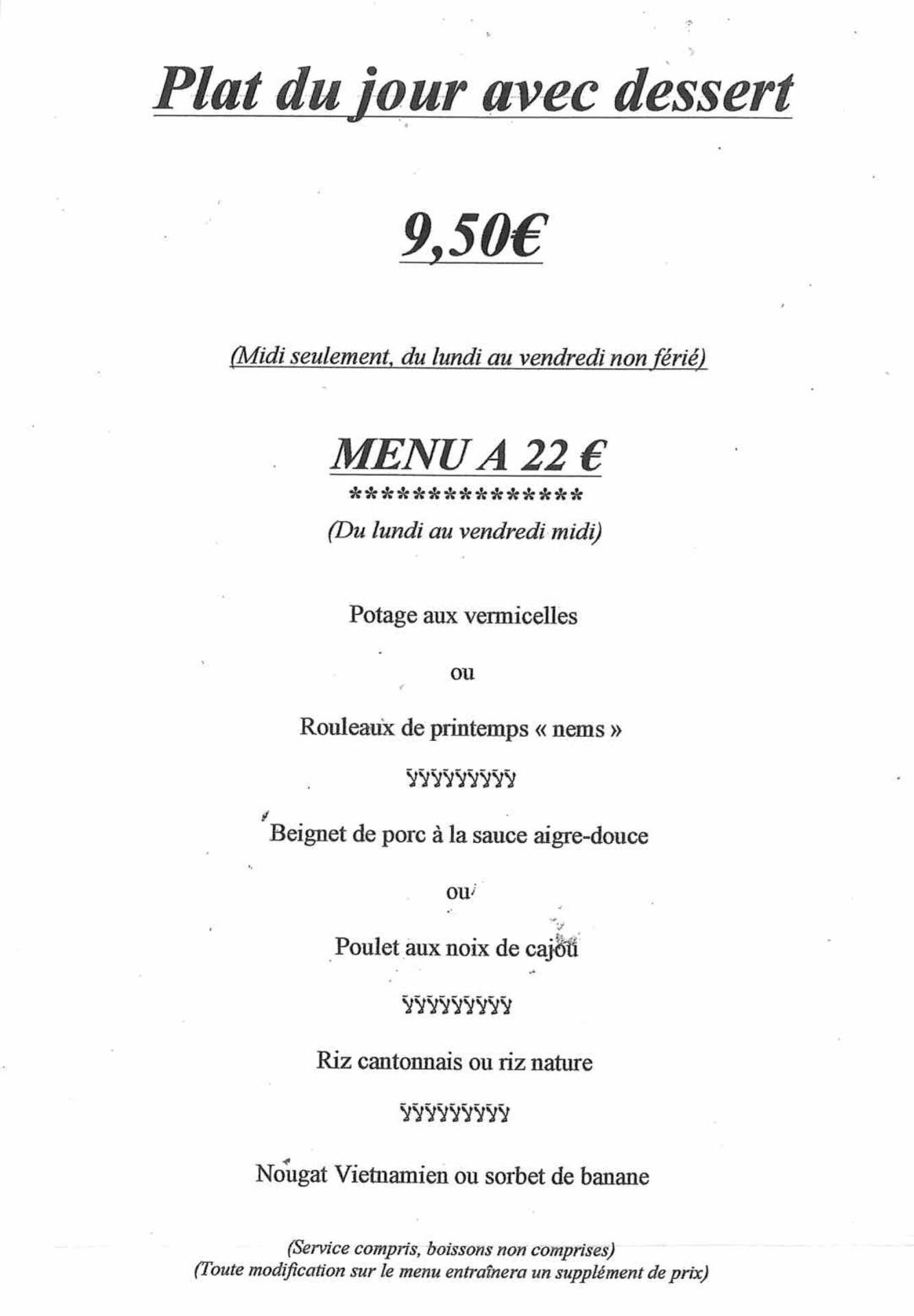 menu le jardin imperial 9 50 - Menus